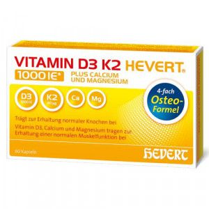 VITAMIN D3 K2 Hevert plus Ca Mg 1.000 I.E./2 Kaps.